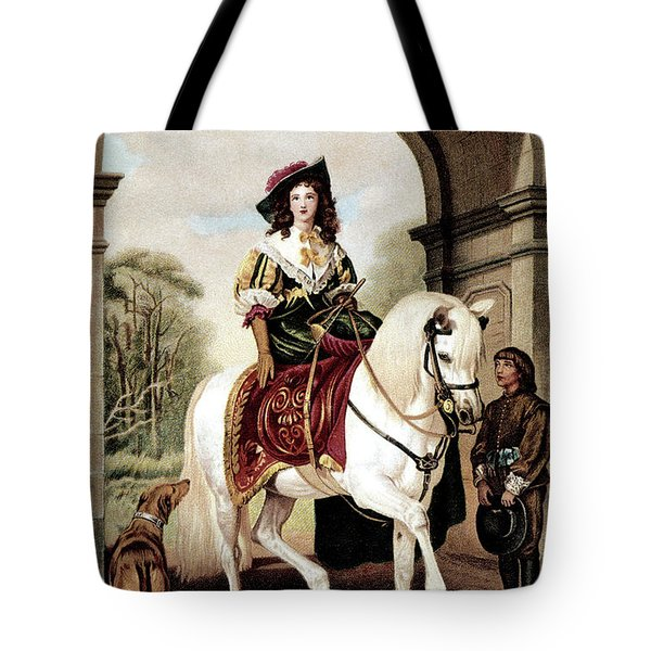 1600s Woman Riding Sidesaddle Painting Tote Bag