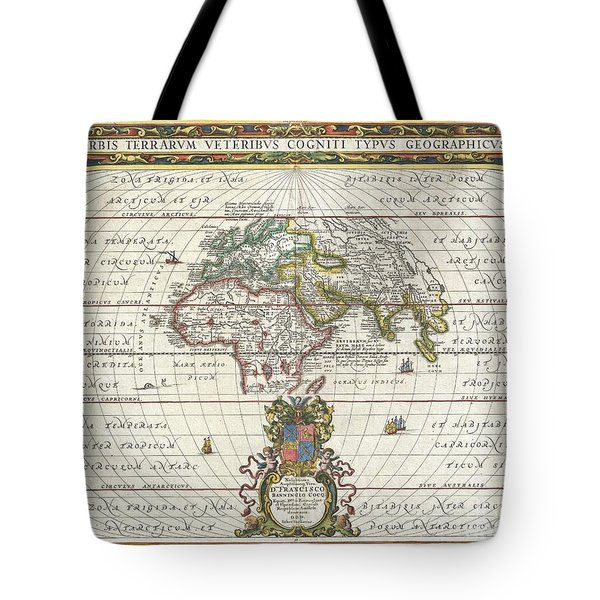 1650 Jansson Map Of The Ancient World Tote Bag by Paul Fearn