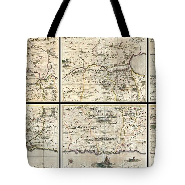 1662 Jansson And Hornius Map Of The Holy Land Israel And Palestine Tote Bag