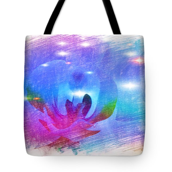 The Orchid Corolla In Blue Tote Bag