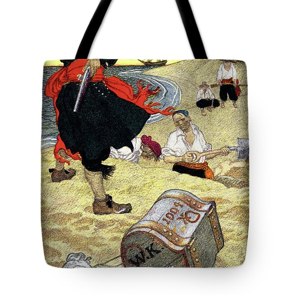 1690s Illustration Pirates On Beach Tote Bag