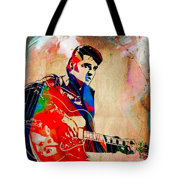 Elvis Presley Collection Tote Bag by Marvin Blaine