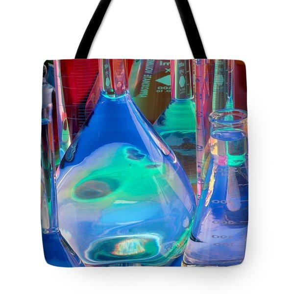 Laboratory Glassware Tote Bag by Charlotte Raymond