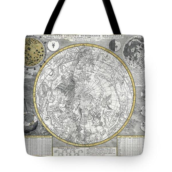 1700 Celestial Planisphere Tote Bag by Daniel Hagerman