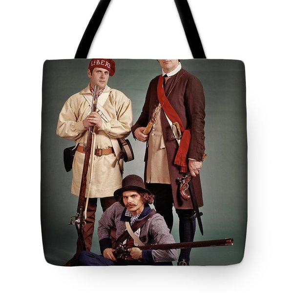 1700s 1776 Colonial Militiamen Tote Bag
