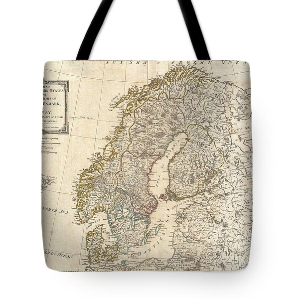 1794 Laurie And Whittle Map Of Norway Sweden Denmark And Finland Tote Bag