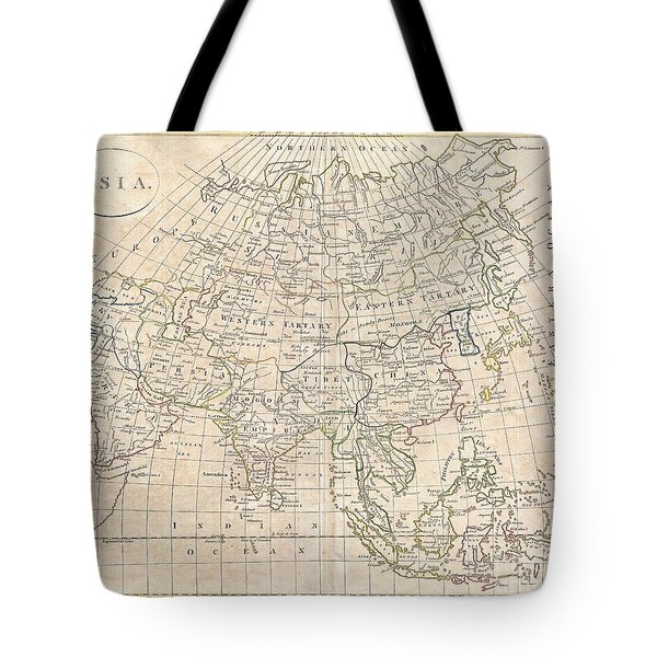 1799 Clement Cruttwell Map Of Asia Tote Bag