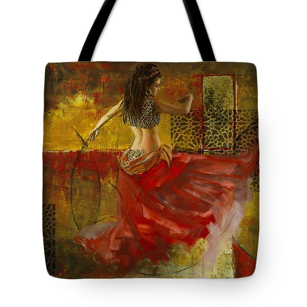 Abstract Belly Dancer 6 Tote Bag