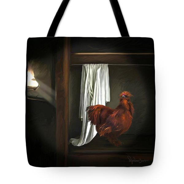 18. Red Rooster Tote Bag