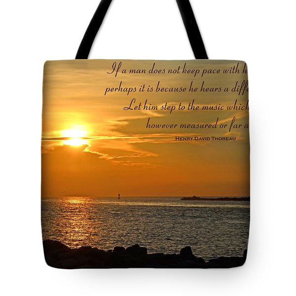 180- Henry David Thoreau Tote Bag by Joseph Keane