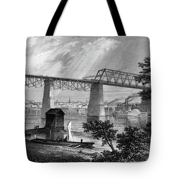 1800s 1870s 1872 View Of Louisville Ky Tote Bag