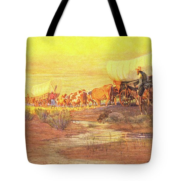 1800s American Western Frontier Tote Bag