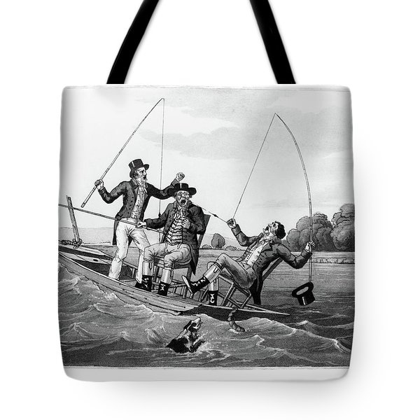 1800s Three 19th Century Men In Boat Tote Bag
