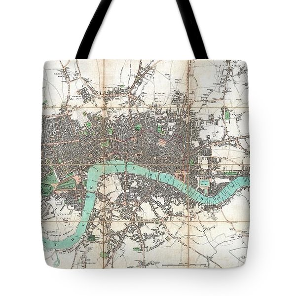 1806 Mogg Pocket Or Case Map Of London Tote Bag