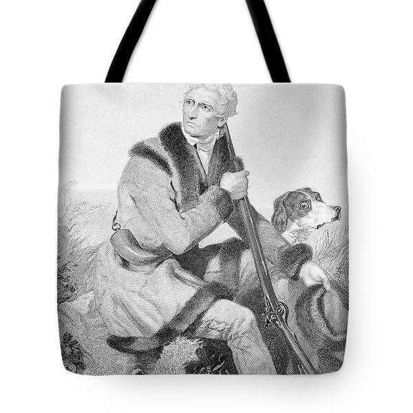 1810s Senior Daniel Boone Hunting Tote Bag