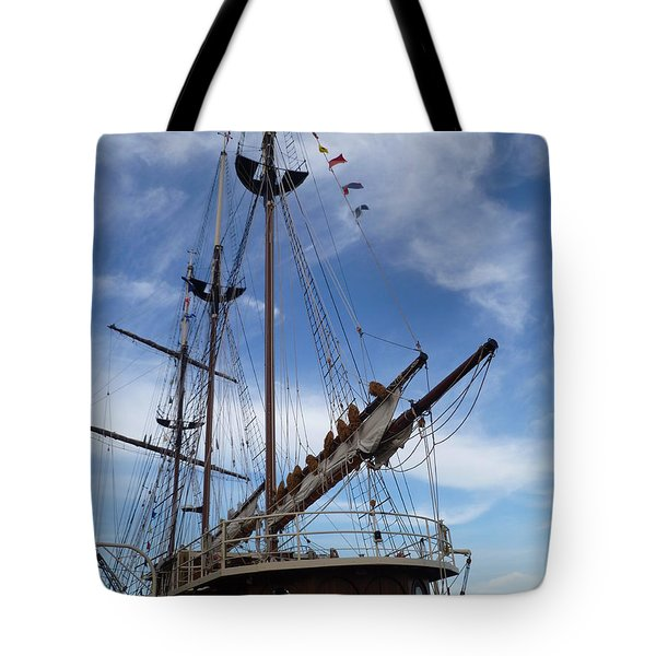 1812 Tall Ships Peacemaker Tote Bag by Lingfai Leung