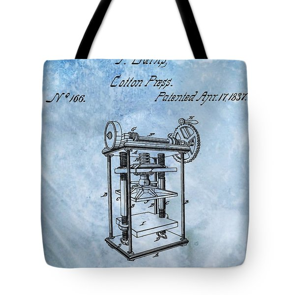 1837 Cotton Press Patent Tote Bag
