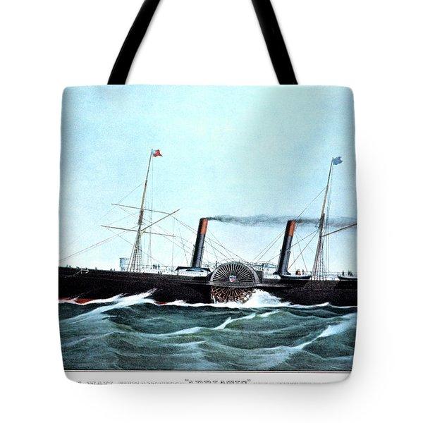 1850s Us Mail Steamship Adriatic 1350 Tote Bag
