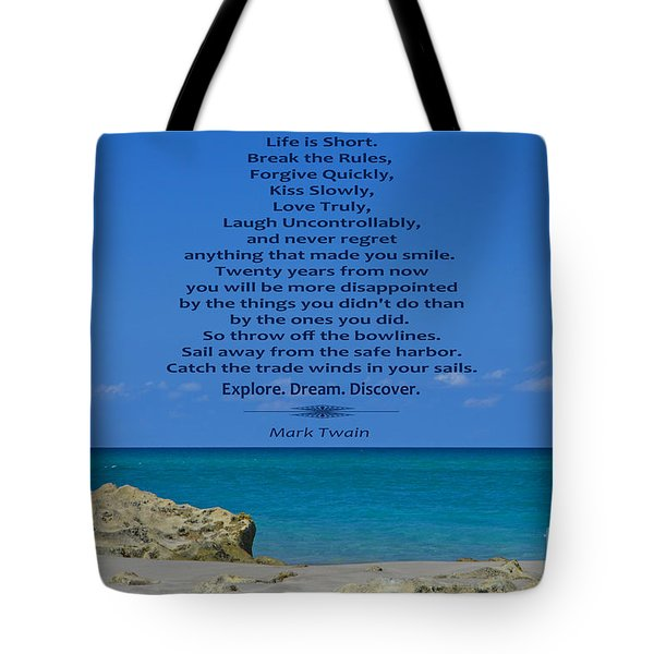 186- Mark Twain Tote Bag by Joseph Keane