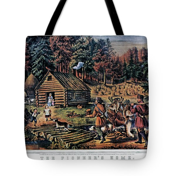 1860s The Pioneer Home On Western Tote Bag