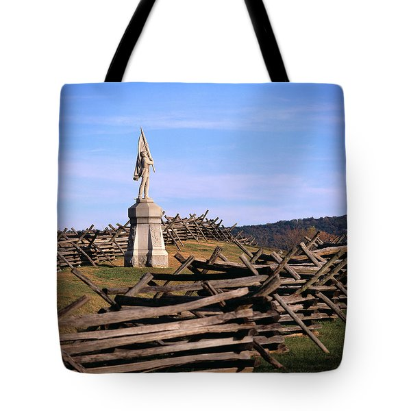 1862 September 17th Statue On Bloody Tote Bag