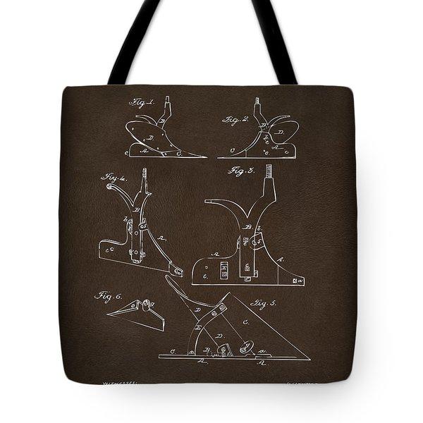 1865 John Deere Plow Patent Espresso Tote Bag