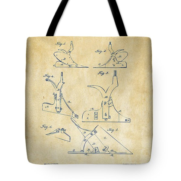 1865 John Deere Plow Patent Vintage Tote Bag