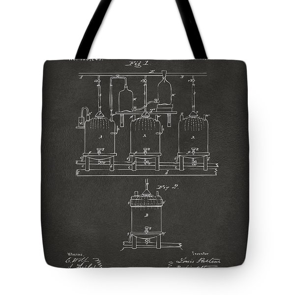1873 Brewing Beer And Ale Patent Artwork - Gray Tote Bag