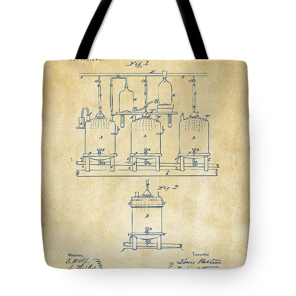 1873 Brewing Beer And Ale Patent Artwork - Vintage Tote Bag