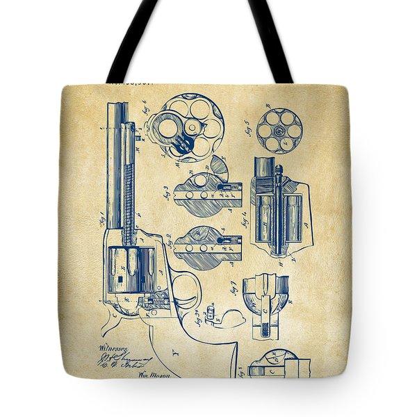 1875 Colt Peacemaker Revolver Patent Vintage Tote Bag