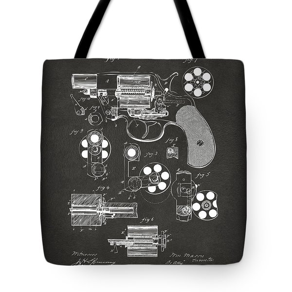 1881 Colt Revolving Fire Arm Patent Artwork - Gray Tote Bag