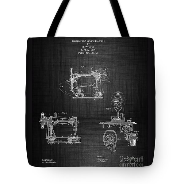 1885 Singer Sewing Machine Tote Bag