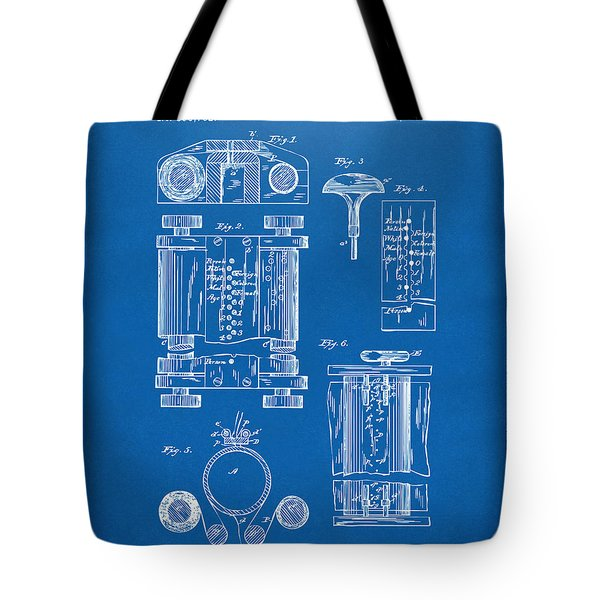 1889 First Computer Patent Blueprint Tote Bag