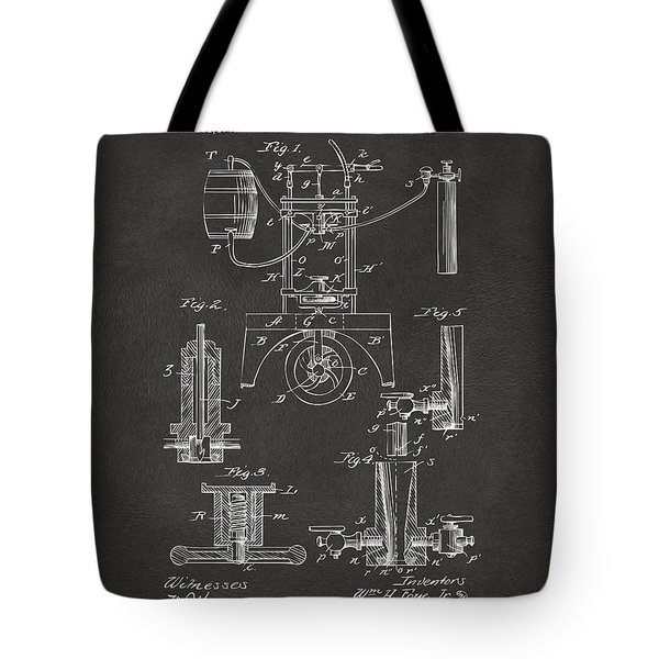 1890 Bottling Machine Patent Artwork Gray Tote Bag