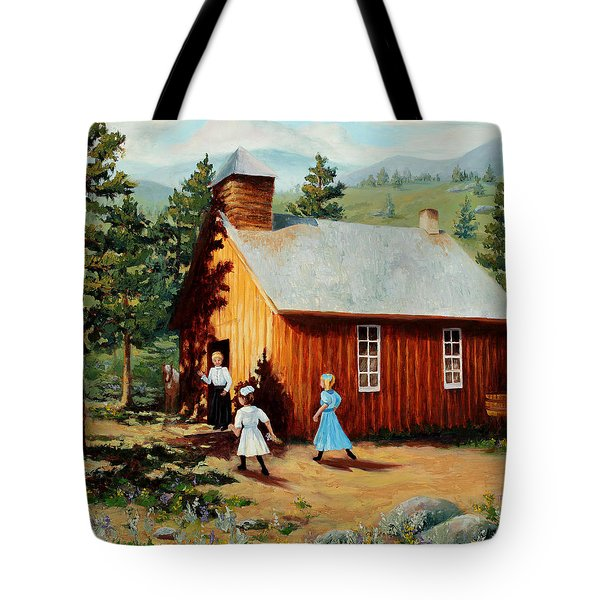 1896 School House Tote Bag