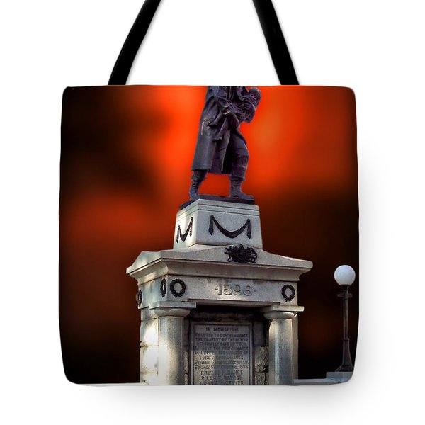 1898 Firemen Memorial St Joes Michigan Tote Bag by Thomas Woolworth