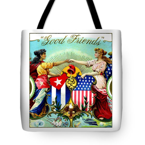 1898 Good Friends Cuban Cigars Tote Bag