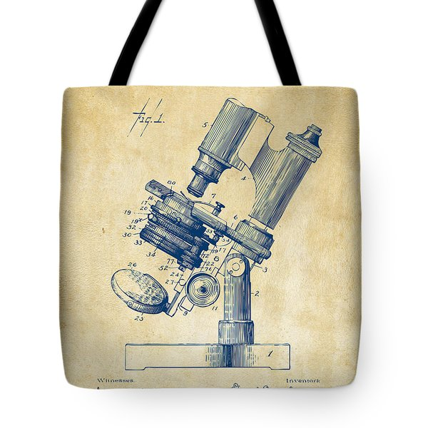 1899 Microscope Patent Vintage Tote Bag