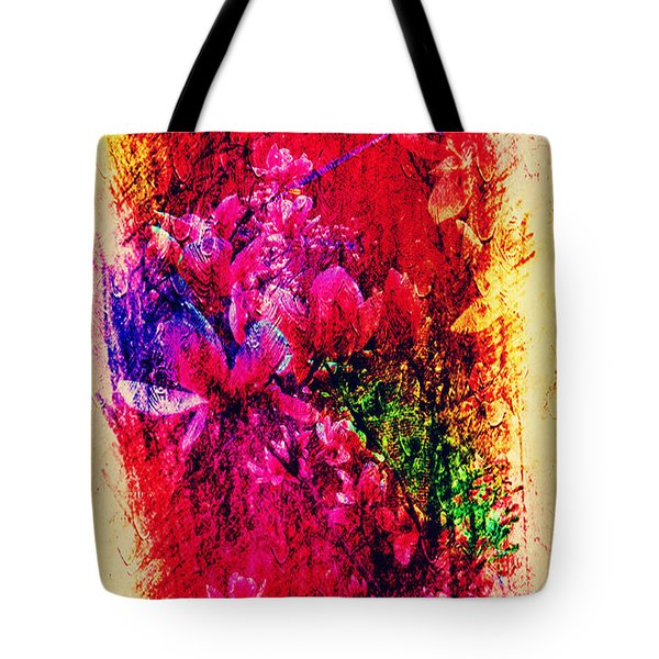Magnolias In Abstract Tote Bag