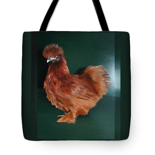 19. Red Silkie Hen Tote Bag