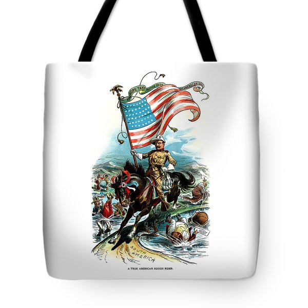 1902 Rough Rider Teddy Roosevelt Tote Bag by Historic Image