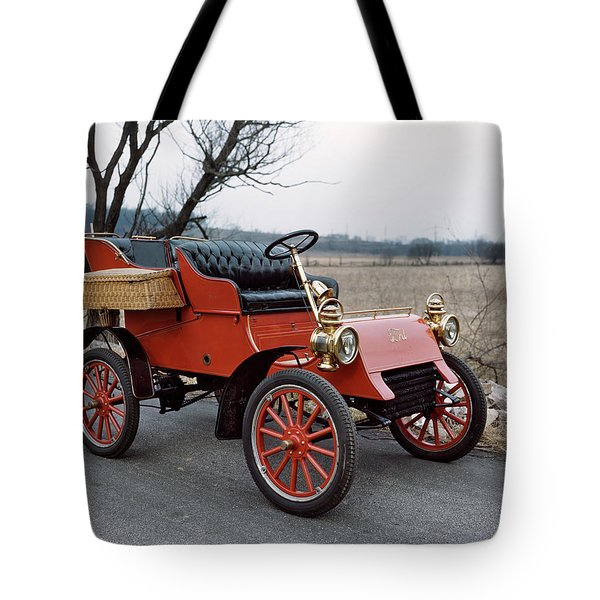 1903 Red Ford Model A Automobile Tote Bag
