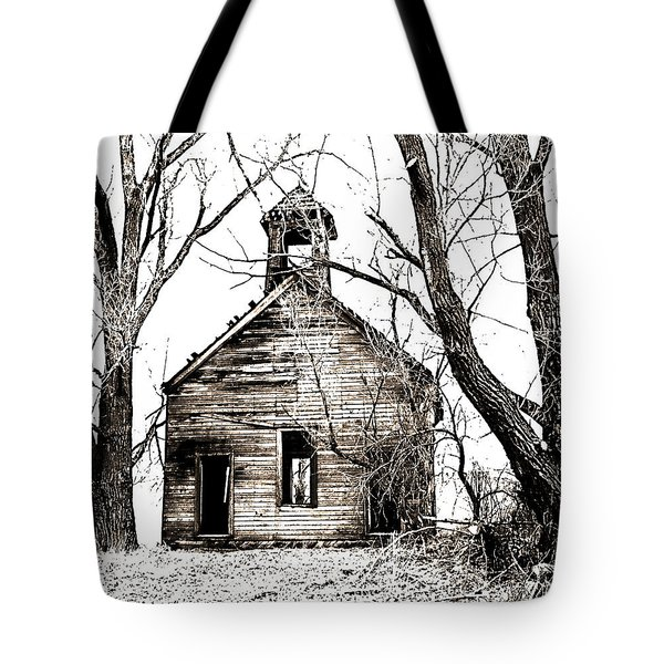 Tote Bag featuring the photograph 1904 School House Memory by Sonya Lang