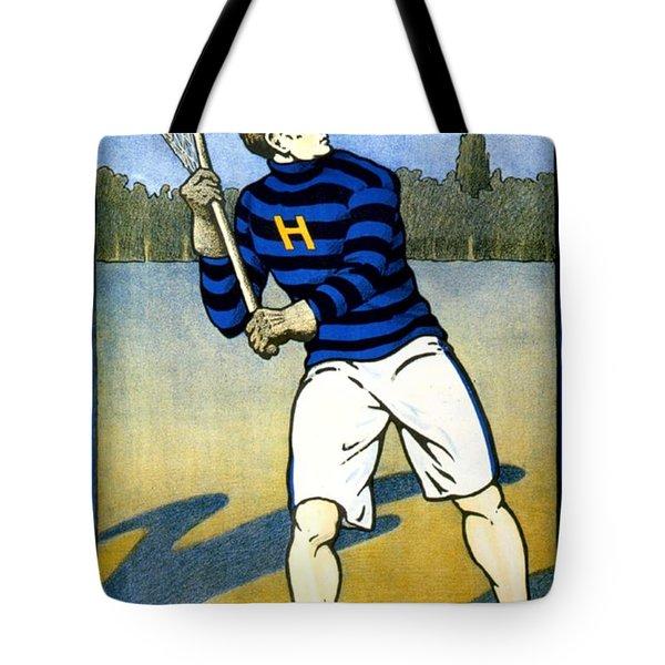 1905 - Johns Hopkins University Lacrosse Poster - Color Tote Bag