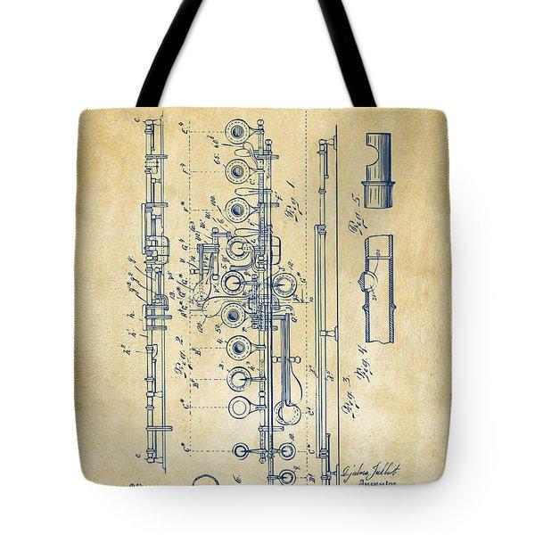 1908 Flute Patent - Vintage Tote Bag