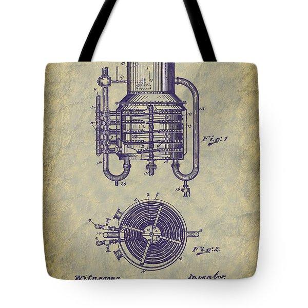 1909 Jett Whiskey Still Patent Tote Bag