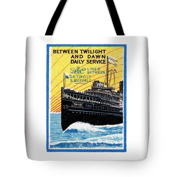 1910 Detroit To Buffalo Steamship Tote Bag