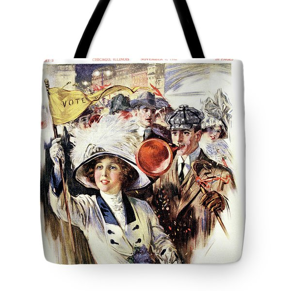 1910s 1912 Cover Sunday Magazine Tote Bag