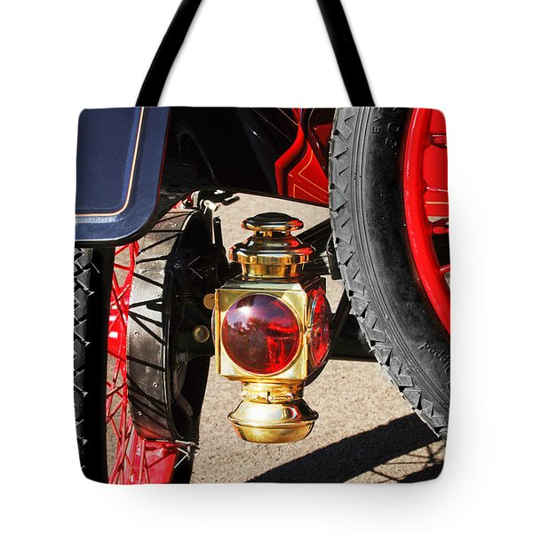 1911 Ford Model T Torpedo 4 Cylinder 25 Hp Taillight Tote Bag by Jill Reger