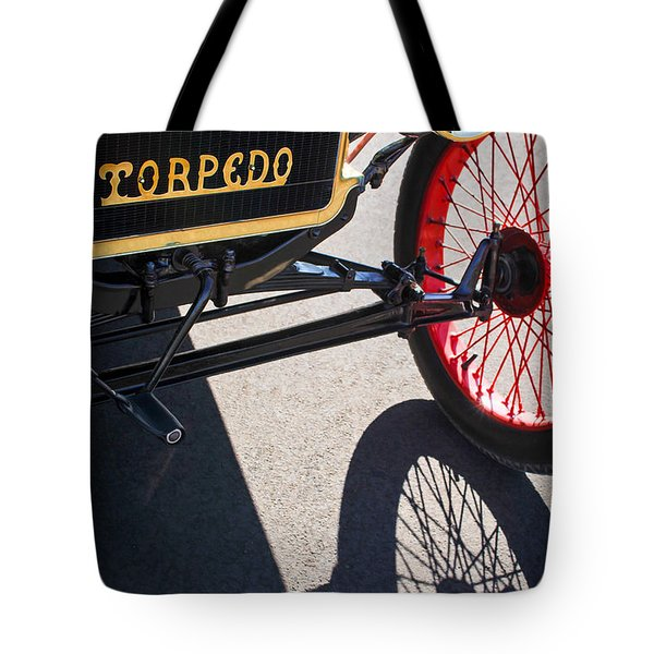 1911 Ford Model T Torpedo Grille Emblem Tote Bag by Jill Reger